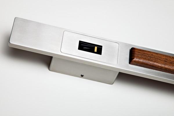 505027 Edelstahl-Stossgriff Holz für FS IN 1000mm